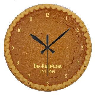 Pumpkin Pie Pie O'Clock Personalized Clock