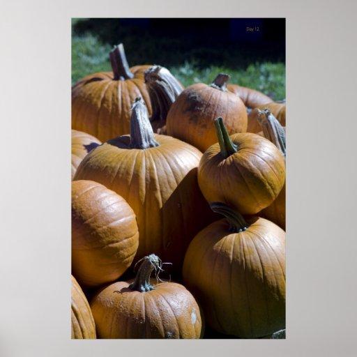 Pumpkin Pile Posters