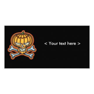 Pumpkin Pirate Personalized Photo Card