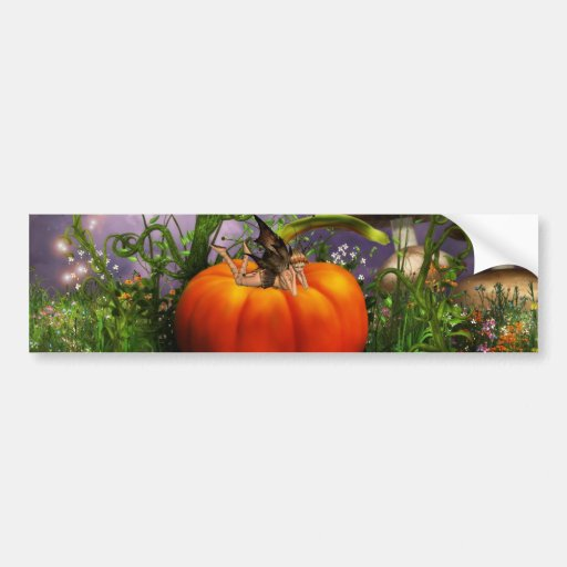 Pumpkin Pixie Bumper Sticker
