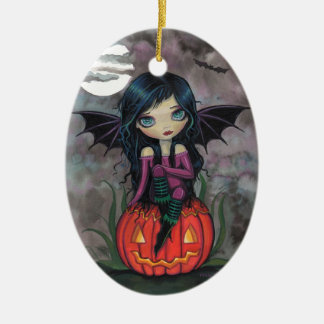 Pumpkin Pixie Cute Vampire Halloween Ornament
