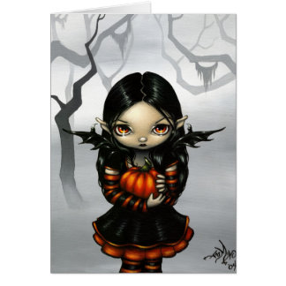 """Pumpkin Pixie"" Greeting Card"