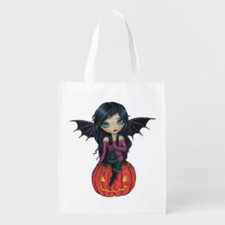 Pumpkin Pixie Halloween Vampire and Jack-o-Lantern