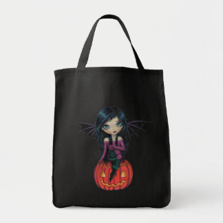 Pumpkin Pixie Little Vampire Halloween Tote Bag