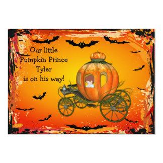 Pumpkin Prince Halloween Boy Baby Shower 13 Cm X 18 Cm Invitation Card