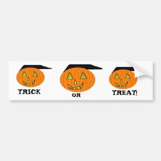 Pumpkin, Pumpkin, Pumpkin, TRICK, OR, TREAT! Bumper Sticker
