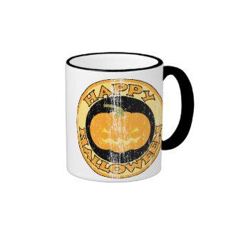 Pumpkin Retro Halloween Ringer Mug