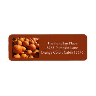 Pumpkin Return Address labels 2 2016