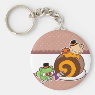 Pumpkin Roll Delight Basic Round Button Key Ring