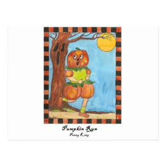 Pumpkin Run Postcard