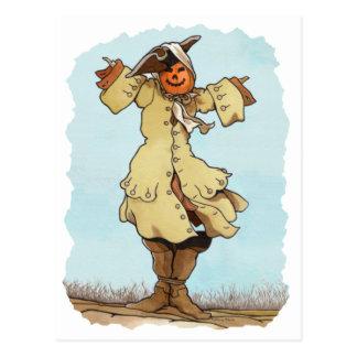 Pumpkin Scarecrow Postcard