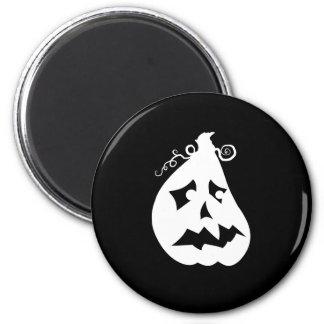 Pumpkin Scared 6 Cm Round Magnet