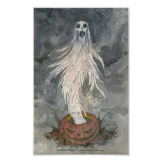 """Pumpkin Shriek"" Print"