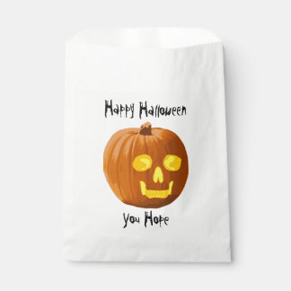 Pumpkin Skull: Happy Halloween - You Hope Favour Bags