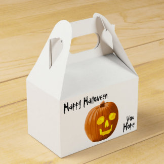 Pumpkin Skull: Happy Halloween - You Hope Wedding Favour Box