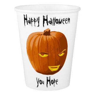 Pumpkin Sly: Happy Halloween - You Hope Paper Cup