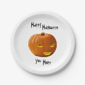Pumpkin Sly: Happy Halloween - You Hope Paper Plate