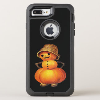 Pumpkin Snowman Vintage Halloween OtterBox Defender iPhone 7 Plus Case