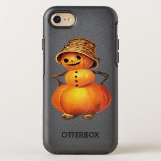 Pumpkin Snowman Vintage Halloween OtterBox Symmetry iPhone 8/7 Case