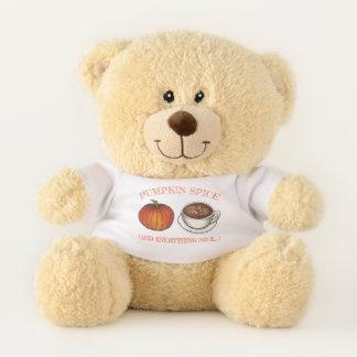 Pumpkin Spice and Everything Nice Coffee Latte Teddy Bear