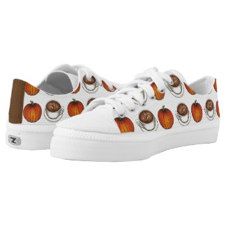 Pumpkin Spice Coffee Latte Autumn Fall Sneakers