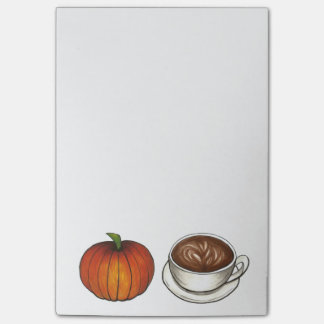 Pumpkin Spice Coffee Latte Post-It Notes
