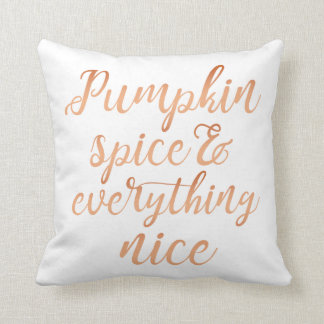 Pumpkin spice & everything nice cushion