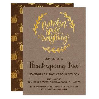 Pumpkin Spice Everything Thanksgiving Card