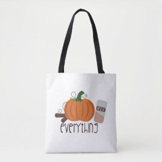 Pumpkin Spice Everything Tote Bag