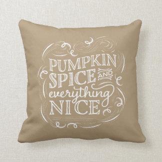 Pumpkin Spice Fall Halloween Decor Pillow