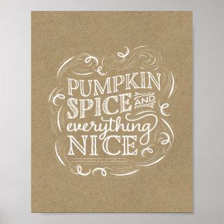 Pumpkin Spice Fall Thanksgiving Art Print