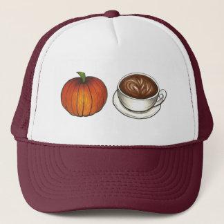Pumpkin Spice Latte Coffee Cup Autumn Hat