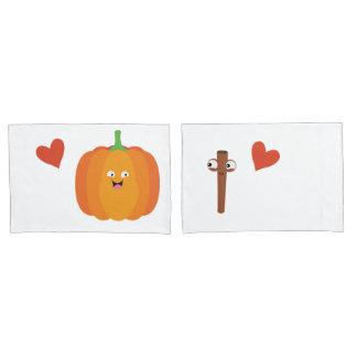 Pumpkin Spice Love Cute Fall Couples Pillow Set Pillowcase