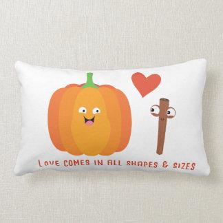 Pumpkin Spice Love Cute Fall Lumbar Pillow