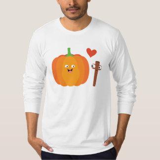 Pumpkin Spice Love Fall Text on Back Men's Shirt