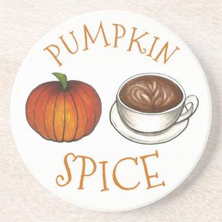 Pumpkin Spice Season Autumn Coffee Latte Fall Coaster