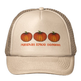 Pumpkin Spice Season Orange Autumn Pumpkins Hat