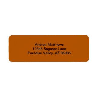Pumpkin Spice Solid Color Return Address Label
