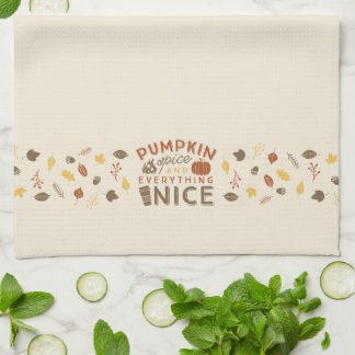 Pumpkin Spice Typographic Fall Kitchen Towel