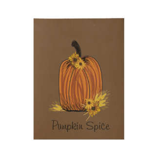 Pumpkin Spice Wood Poster