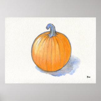 Pumpkin Study Poster