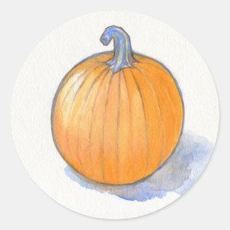 Pumpkin Study Round Sticker