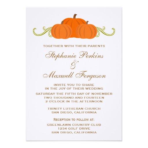 Pumpkin Swirls Fall Wedding Invite