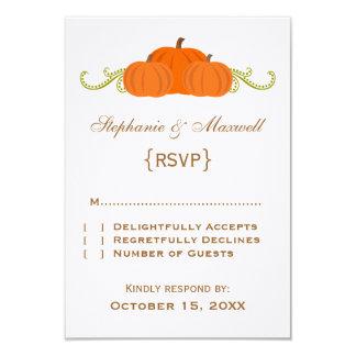 Pumpkin Swirls Fall Wedding Response Card
