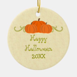Pumpkin Swirls Halloween Ornament