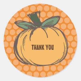 pumpkin thank you sticker
