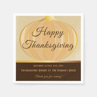 Pumpkin Thanksgiving   Paper Napkin