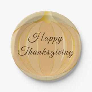 Pumpkin Thanksgiving | Paper Plate