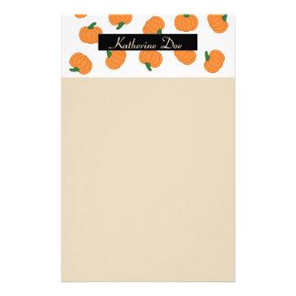 Pumpkin theme custom stationary stationery