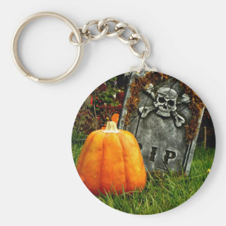 Pumpkin There Basic Round Button Key Ring